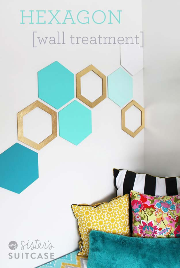 DIY Dorm Room Decor Ideas  Hexagon Wall Cheap Projects for College 46 Best Page 4 of 9