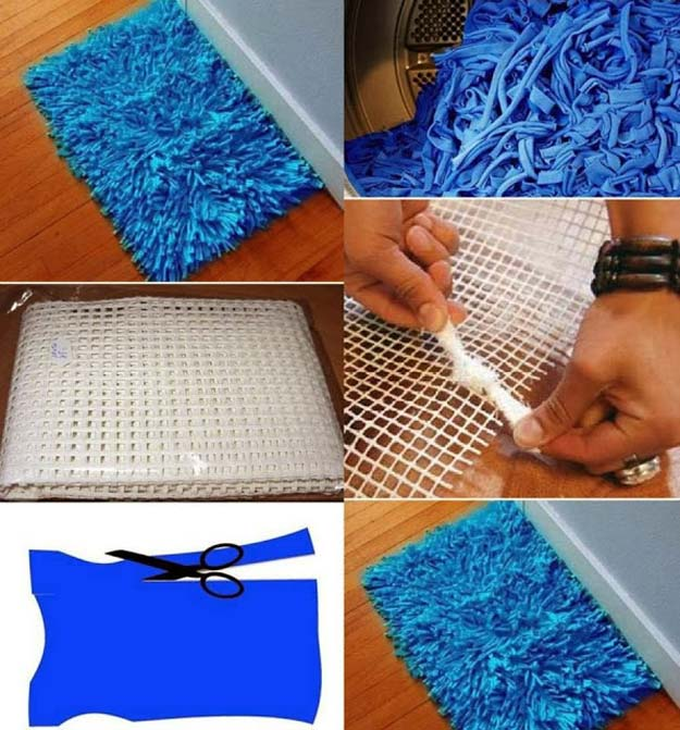 DIY Bathroom Decor Ideas for Teens - Bath Rug - Best Creative, Cool Bath Decorations and Accessories for Teenagers - Easy, Cheap, Cute and Quick Craft Projects That Are Fun To Make. Easy to Follow Step by Step Tutorials