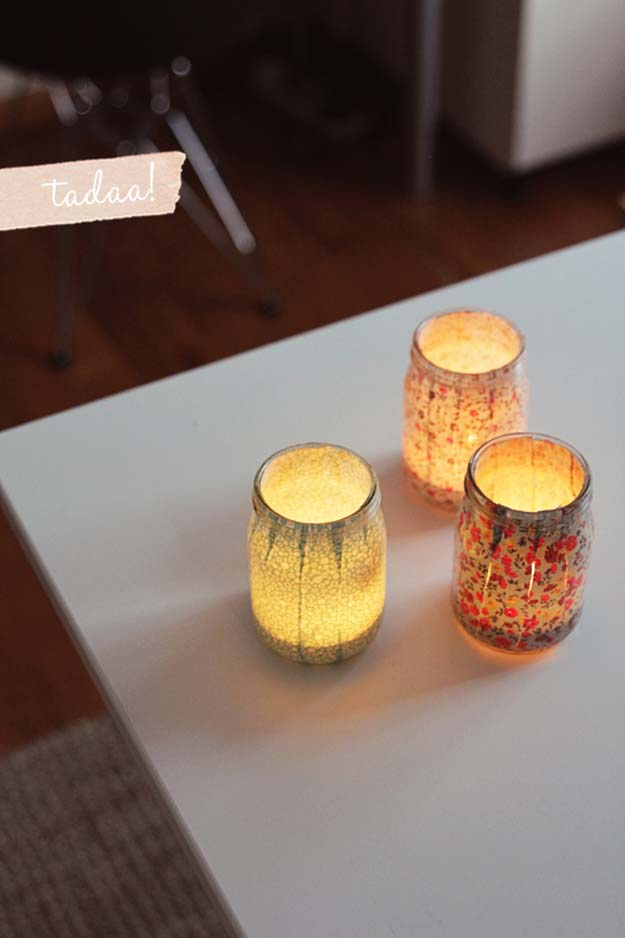 DIY Dorm Room Decor Ideas - Votives - Cheap DIY Dorm Decor Projects for College Rooms - Cool Crafts, Wall Art, Easy Organization for Girls - Fun DYI Tutorials for Teens and College Students #diyideas #roomdecor #diy #collegelife #teencrafts