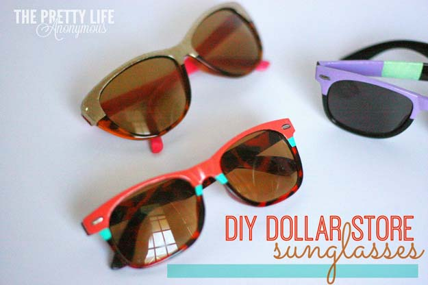 Fun Dollar Store Crafts for Teens - DIY Dollar Store Sunglasses - Cheap and Easy DIY Ideas for Teenagers to Make for Dollar Stores - Inexpensive Gifts and Room Decor for Tweens, Boys and Girls - Awesome Step by Step Tutorials with Instructions for Cool DIY Projects http://diyprojectsforteens.com/dollar-store-crafts-teens