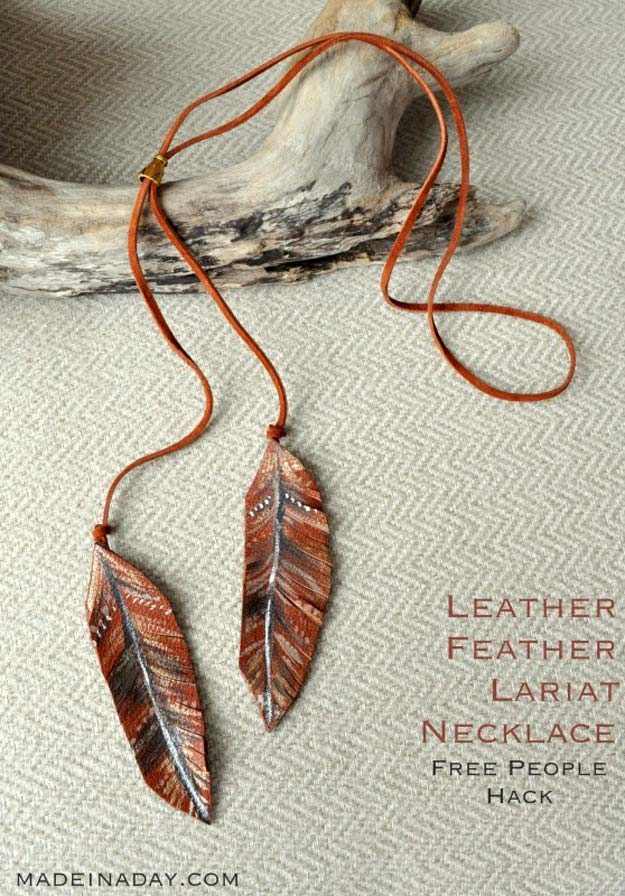 Best DIY Ideas from Tumblr - DIY Leather Feather Lariat Necklace - Crafts and DIY Projects Inspired by Tumblr are Perfect Room Decor for Teens and Adults - Fun Crafts and Easy DIY Gifts, Clothes and Bedroom Project Tutorials for Teenagers and Tweens http://diyprojectsforteens.com/diy-projects-tumblr