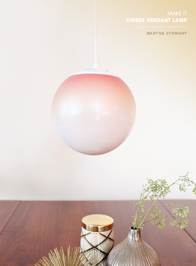 DIY Lighting Ideas for Teen and Kids Rooms - Ombre Pendant Light - Fun DIY Lights like Lamps, Pendants, Chandeliers and Hanging Fixtures for the Bedroom plus cool ideas With String Lights. Perfect for Girls and Boys Rooms, Teenagers and Dorm Room Decor