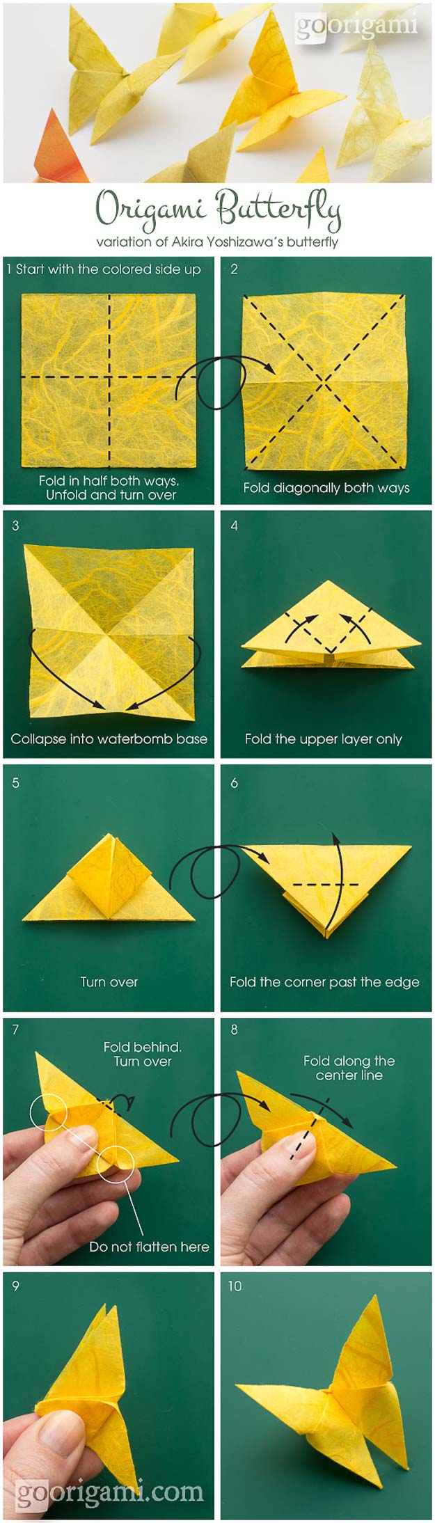 Best Origami Tutorials - Origami Butterfly - Easy DIY Origami Tutorial Projects for With Instructions for Flowers, Dog, Gift Box, Star, Owl, Buttlerfly, Heart and Bookmark, Animals - Fun Paper Crafts for Teens, Kids and Adults #origami #crafts