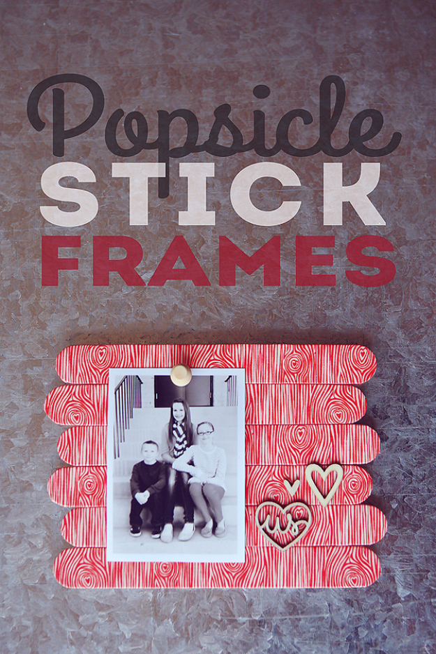 DIY Teen Room Decor Ideas for Girls | Popsicle Stick Frames | Cool Bedroom Decor, Wall Art & Signs, Crafts, Bedding, Fun Do It Yourself Projects and Room Ideas for Small Spaces