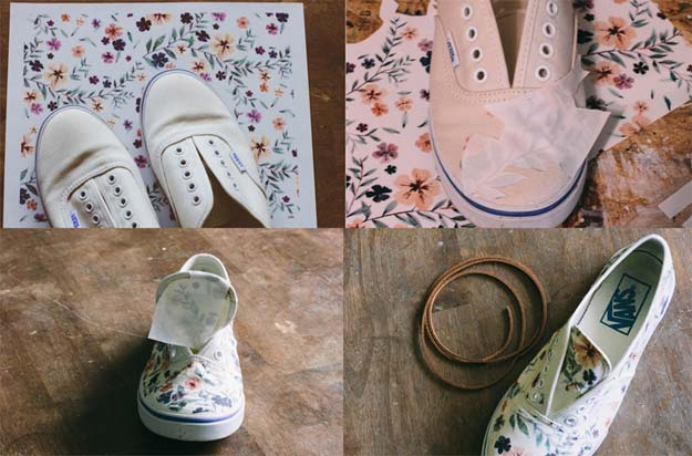 Fun Dollar Store Crafts for Teens - DIY Iron-on Floral Patterned Shoes - Cheap and Easy DIY Ideas for Teenagers to Make for Dollar Stores - Inexpensive Gifts and Room Decor for Tweens, Boys and Girls - Awesome Step by Step Tutorials with Instructions for Cool DIY Projects http://diyprojectsforteens.com/dollar-store-crafts-teens