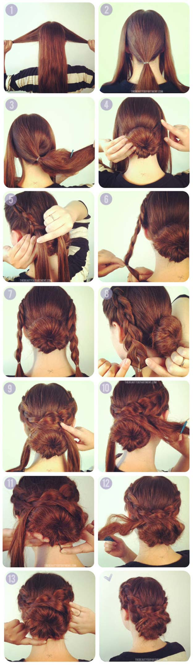 Hair Romance Easy Plaited Updo Hairstyle Tutorial Click Through For Full