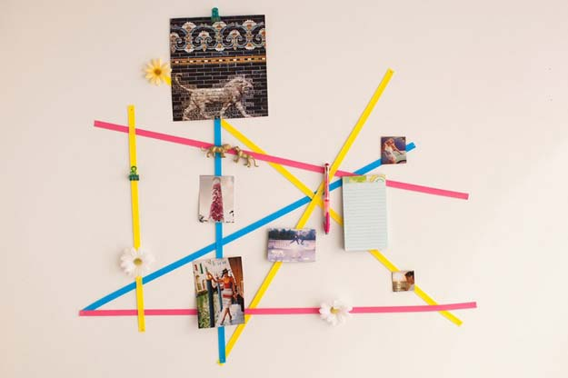 DIY Dorm Room Decor Ideas - Geometric Wall Art - Cheap DIY Dorm Decor Projects for College Rooms - Cool Crafts, Wall Art, Easy Organization for Girls - Fun DYI Tutorials for Teens and College Students #diyideas #roomdecor #diy #collegelife #teencrafts