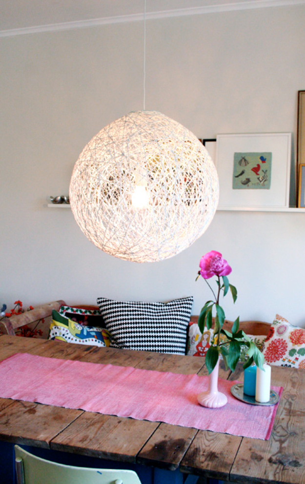 DIY Lighting Ideas for Teen and Kids Rooms - Whirl It Lampshade - Fun DIY Lights like Lamps, Pendants, Chandeliers and Hanging Fixtures for the Bedroom plus cool ideas With String Lights. Perfect for Girls and Boys Rooms, Teenagers and Dorm Room Decor