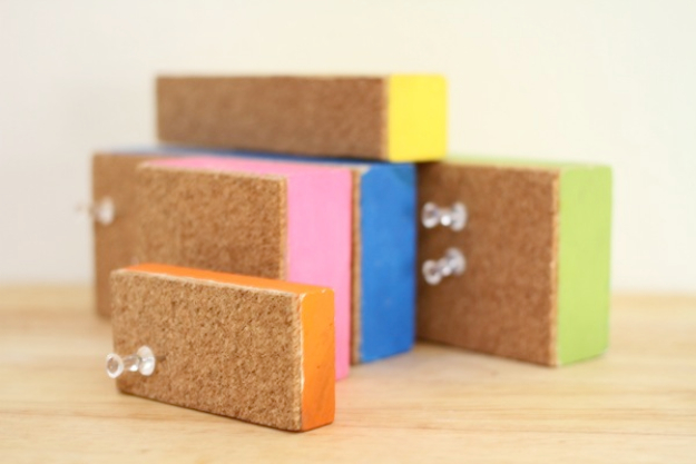 DIY Teen Room Decor Ideas for Girls | Wood Block Cork Board | Cool Bedroom Decor, Wall Art & Signs, Crafts, Bedding, Fun Do It Yourself Projects and Room Ideas for Small Spaces