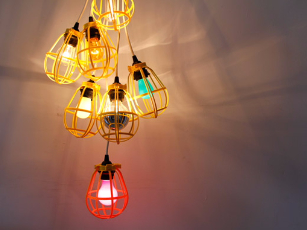 DIY Lighting Ideas for Teen and Kids Rooms - Work Light Chandelier - Fun DIY Lights like Lamps, Pendants, Chandeliers and Hanging Fixtures for the Bedroom plus cool ideas With String Lights. Perfect for Girls and Boys Rooms, Teenagers and Dorm Room Decor