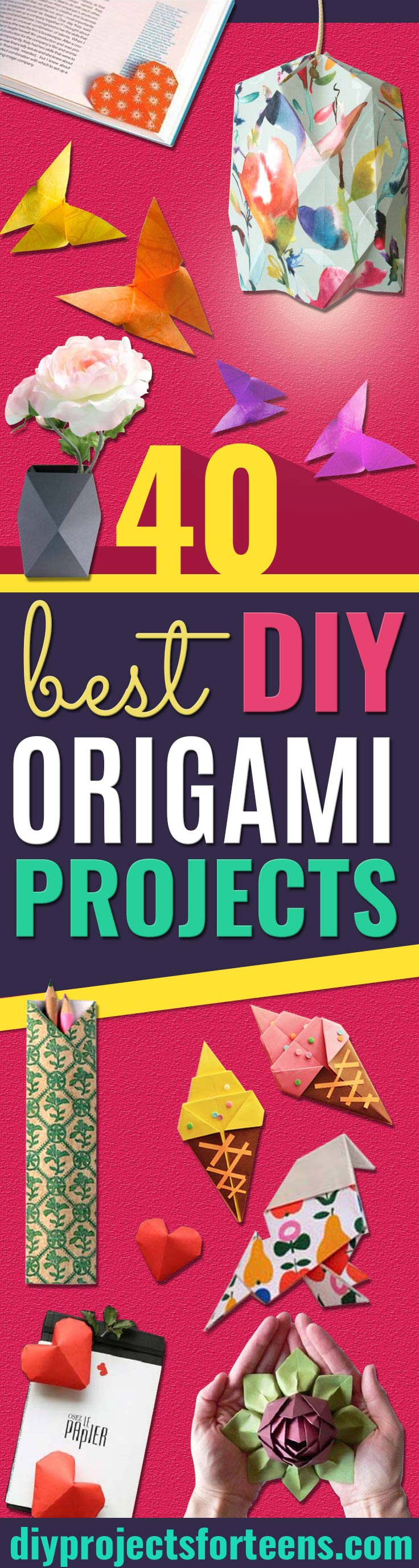 Best Origami Tutorials - Easy DIY Origami Tutorial Projects for With Instructions for Flowers, Dog, Gift Box, Star, Owl, Buttlerfly, Heart and Bookmark, Animals - Fun Paper Crafts for Teens, Kids and Adults http://diyprojectsforteens.com/best-origami-tutorials