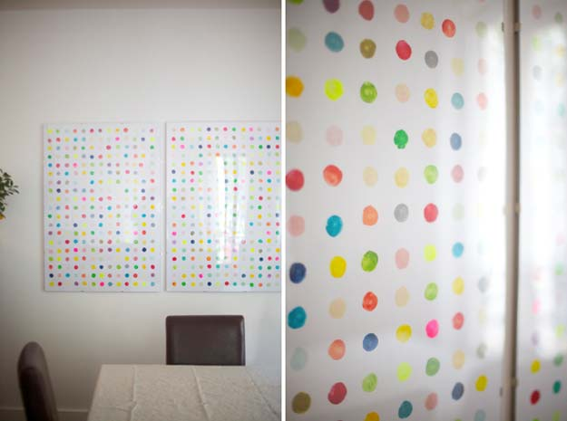 DIY Polka Dot Crafts and Projects - DIY Potato Print Wall Art Polka Dots - Cool Clothes, Room and Home Decor, Wall Art, Mason Jars and Party Ideas, Canvas, Fabric and Paint Project Tutorials - Fun Craft Ideas for Teens, Kids and Adults Make Awesome DIY Gifts