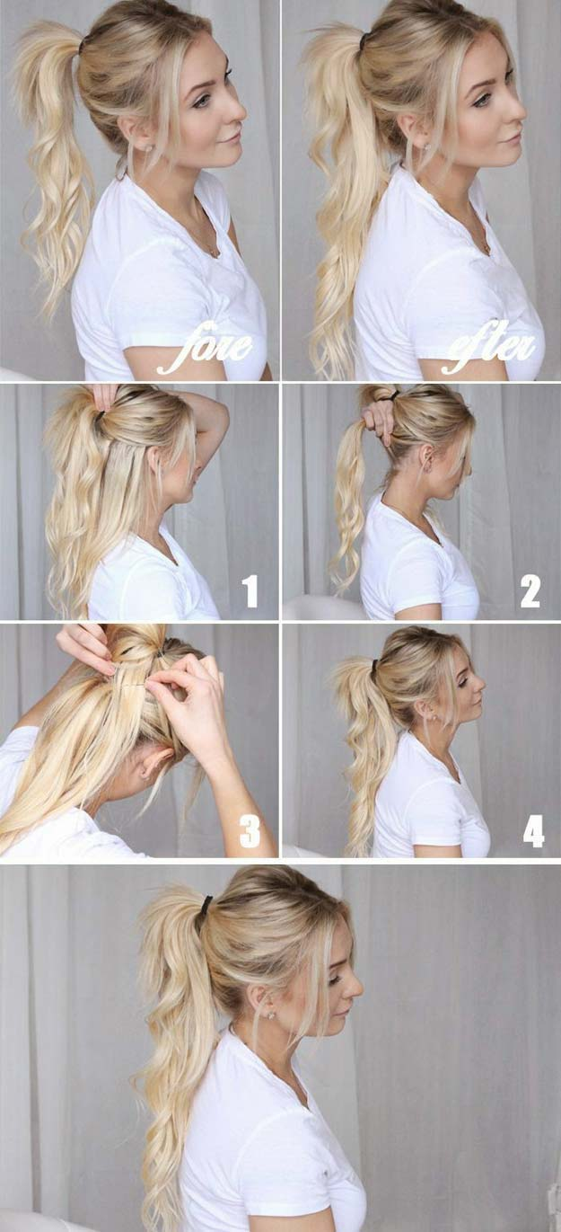 36 best hairstyles for long hair diy cool ponytails cawebpages best hairstyles for long hair cool ponytails step by step tutorials for easy curls solutioingenieria Images