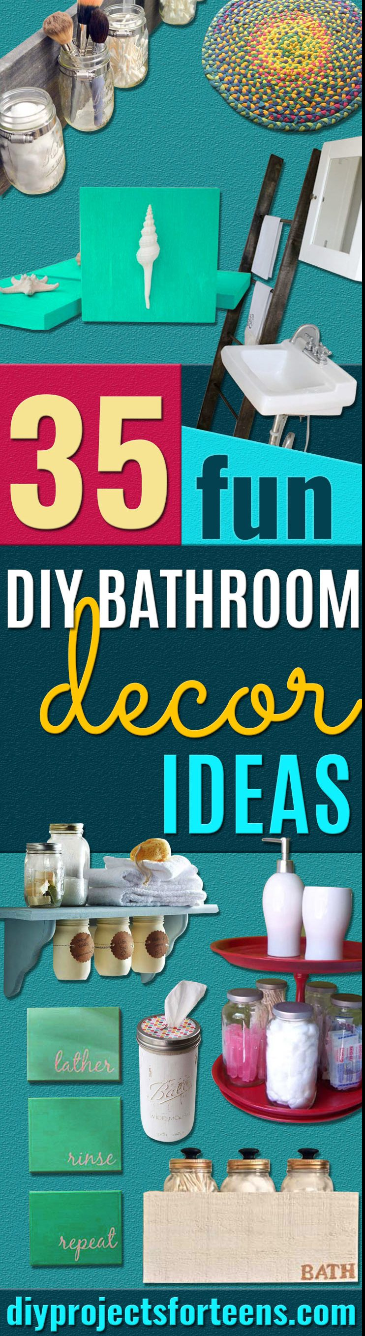 DIY Bathroom Decor Ideas for Teens - Best Creative, Cool Bath Decorations and Accessories for Teenagers - Easy, Cheap, Cute and Quick Craft Projects That Are Fun To Make. Easy to Follow Step by Step Tutorials