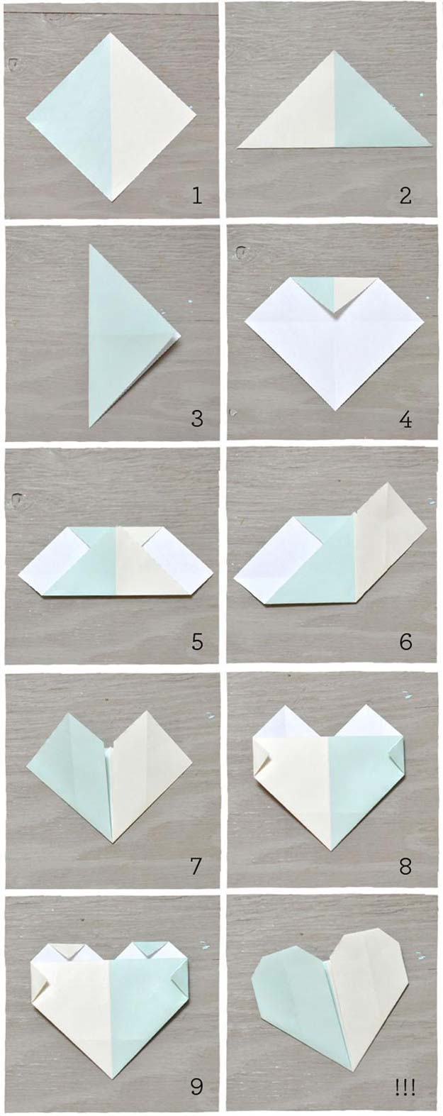 40 best diy origami projects to keep your entertained today diy best origami tutorials origami heart escort cards easy diy origami tutorial projects for with jeuxipadfo Choice Image