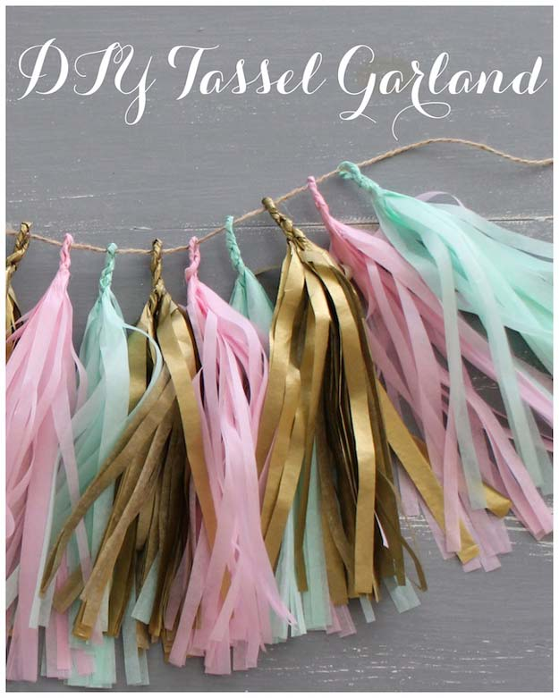 DIY Dorm Room Decor Ideas - Tassel Garland - Cheap DIY Dorm Decor Projects for College Rooms - Cool Crafts, Wall Art, Easy Organization for Girls - Fun DYI Tutorials for Teens and College Students http://diyprojectsforteens.com/diy-dorm-room-decor