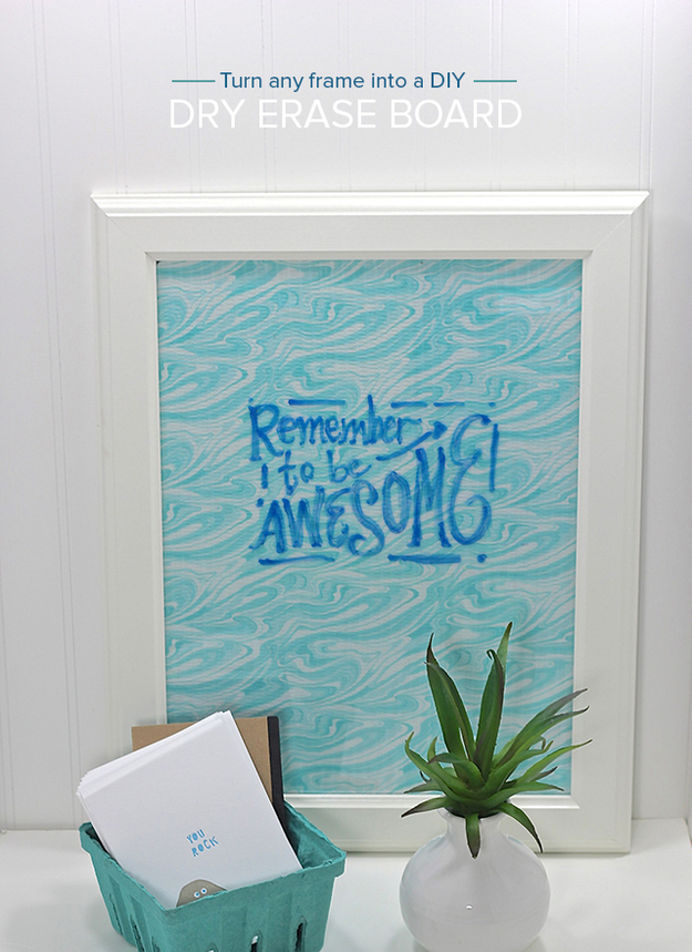 DIY Dorm Room Decor Ideas - Dry Erase Board - Cheap DIY Dorm Decor Projects for College Rooms - Cool Crafts, Wall Art, Easy Organization for Girls - Fun DYI Tutorials for Teens and College Students http://diyprojectsforteens.com/diy-dorm-room-decor