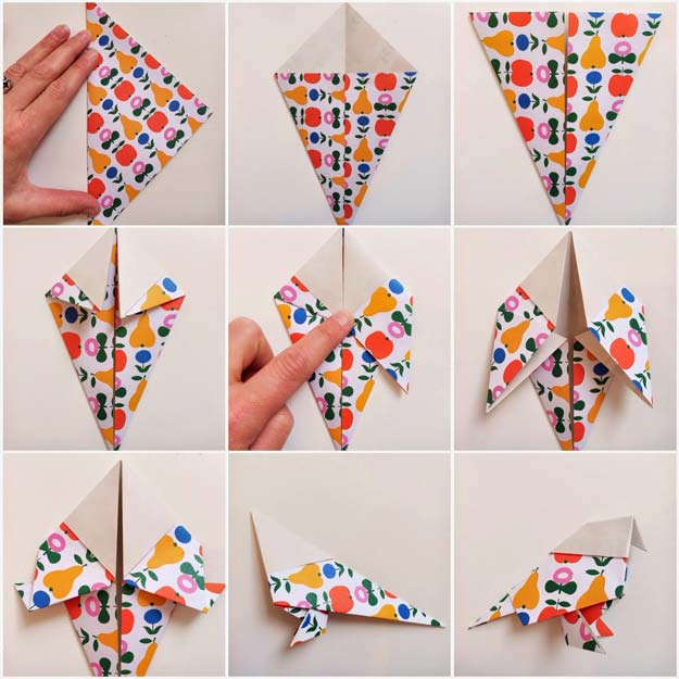 Best Origami Tutorials - Birds Origami - Easy DIY Origami Tutorial Projects for With Instructions for Flowers, Dog, Gift Box, Star, Owl, Buttlerfly, Heart and Bookmark, Animals - Fun Paper Crafts for Teens, Kids and Adults http://diyprojectsforteens.com/best-origami-tutorials