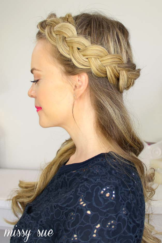 Best Hairstyles for Long Hair - Half Crown Braid- Step by Step Tutorials for Easy Curls, Updo, Half Up, Braids and Lazy Girl Looks. Prom Ideas, Special Occasion Hair and Braiding Instructions for Teens, Teenagers and Adults, Women and Girls http://diyprojectsforteens.com/best-hairstyles-long-hair