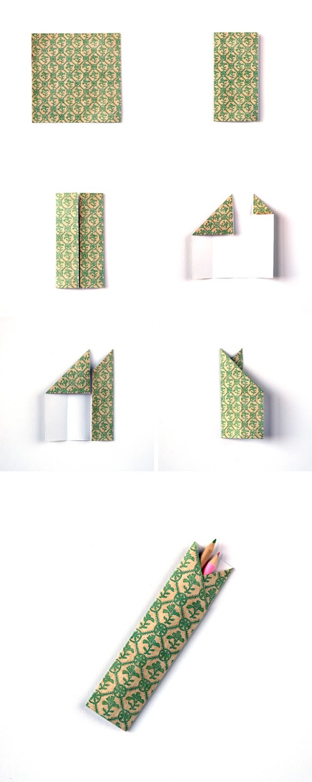 How To Make Origami Chopstick Pencil Holders Case Diy Projects For