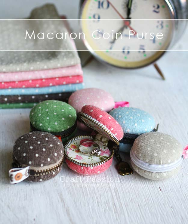 Fun Dollar Store Crafts for Teens - DIY Macaron Coin Purse - Cheap and Easy DIY Ideas for Teenagers to Make for Dollar Stores - Inexpensive Gifts and Room Decor for Tweens, Boys and Girls - Awesome Step by Step Tutorials with Instructions for Cool DIY Projects http://diyprojectsforteens.com/dollar-store-crafts-teens