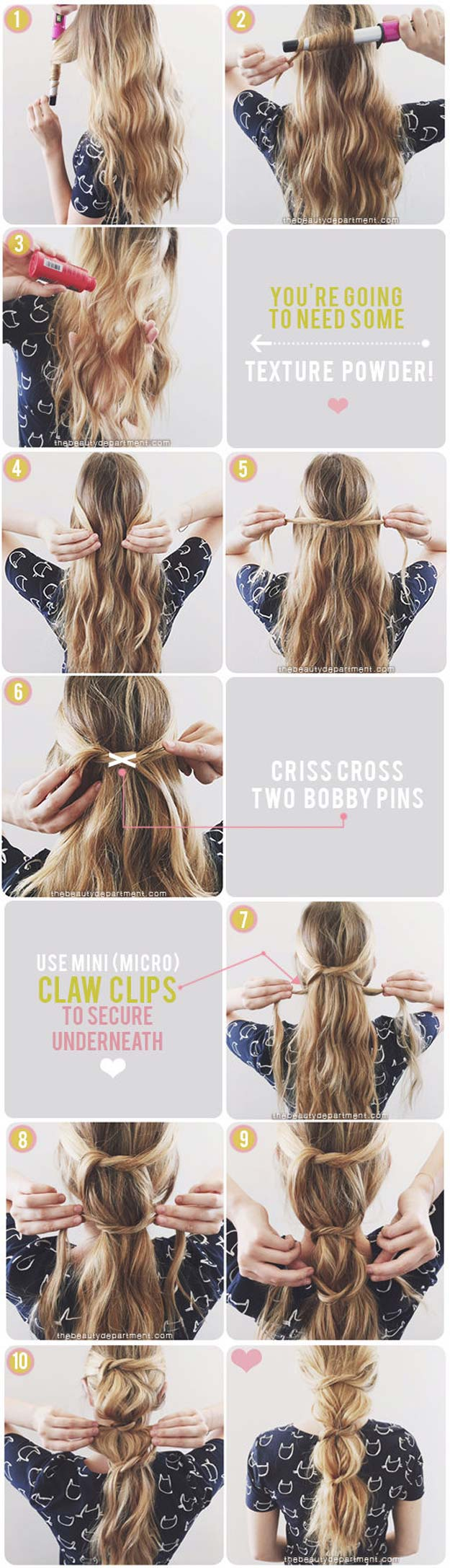 Best Hairstyles for Long Hair - Messy Knotted Ponytail - Step by Step Tutorials for Easy Curls, Updo, Half Up, Braids and Lazy Girl Looks. Prom Ideas, Special Occasion Hair and Braiding Instructions for Teens, Teenagers and Adults, Women and Girls http://diyprojectsforteens.com/best-hairstyles-long-hair