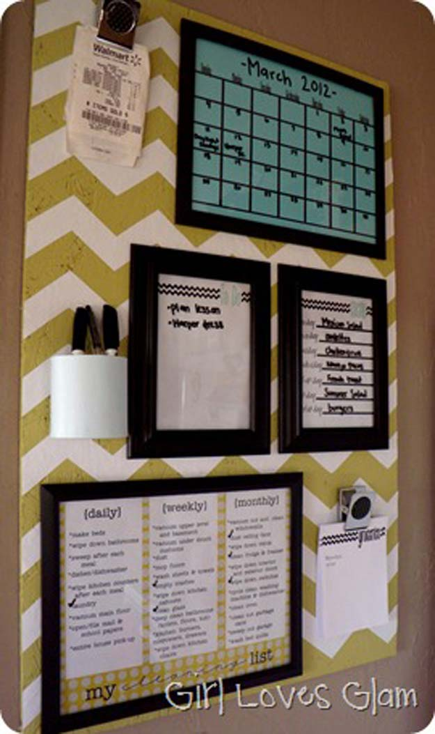 DIY Dorm Room Decor Ideas - Organization Board - Cheap DIY Dorm Decor Projects for College Rooms - Cool Crafts, Wall Art, Easy Organization for Girls - Fun DYI Tutorials for Teens and College Students http://diyprojectsforteens.com/diy-dorm-room-decor