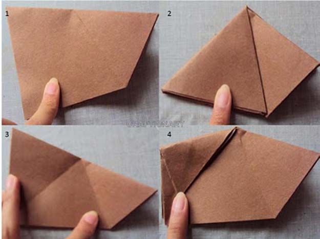 Best Origami Tutorials - Origami Organizer - Easy DIY Origami Tutorial Projects for With Instructions for Flowers, Dog, Gift Box, Star, Owl, Buttlerfly, Heart and Bookmark, Animals - Fun Paper Crafts for Teens, Kids and Adults #origami #crafts