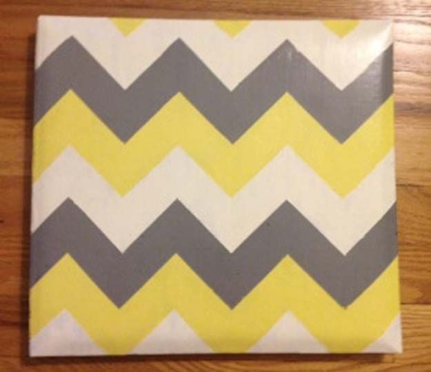 Best DIY Chevron Projects - DIY Chevron Scrapbook - DIY Wall Art, Home and Room Decor, Canvas Crafts With Chevrons, Furniture and Chairs, Decorations With Paint Ideas Using Chevron Patterns for Bedroom, Bathroom and Teens Rooms. Learn How To Tape Chevron Art With Easy To Follow Step by Step Tutorials http://diyprojectsforteens.com/diy-projects-chevron