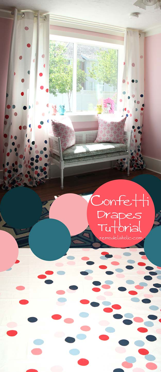 DIY Polka Dot Crafts and Projects - DIY Confetti Drapes - Cool Clothes, Room and Home Decor, Wall Art, Mason Jars and Party Ideas, Canvas, Fabric and Paint Project Tutorials - Fun Craft Ideas for Teens, Kids and Adults Make Awesome DIY Gifts