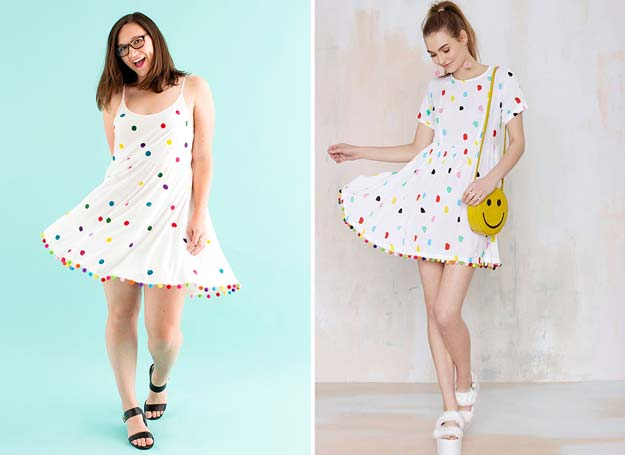 DIY Polka Dot Crafts and Projects - DIY Polka Dot Dress - Cool Clothes, Room and Home Decor, Wall Art, Mason Jars and Party Ideas, Canvas, Fabric and Paint Project Tutorials - Fun Craft Ideas for Teens, Kids and Adults Make Awesome DIY Gifts