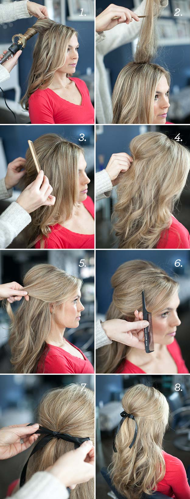 Best Hairstyles for Long Hair - Put a Bow - Step by Step Tutorials for Easy Curls, Updo, Half Up, Braids and Lazy Girl Looks. Prom Ideas, Special Occasion Hair and Braiding Instructions for Teens, Teenagers and Adults, Women and Girls http://diyprojectsforteens.com/best-hairstyles-long-hair