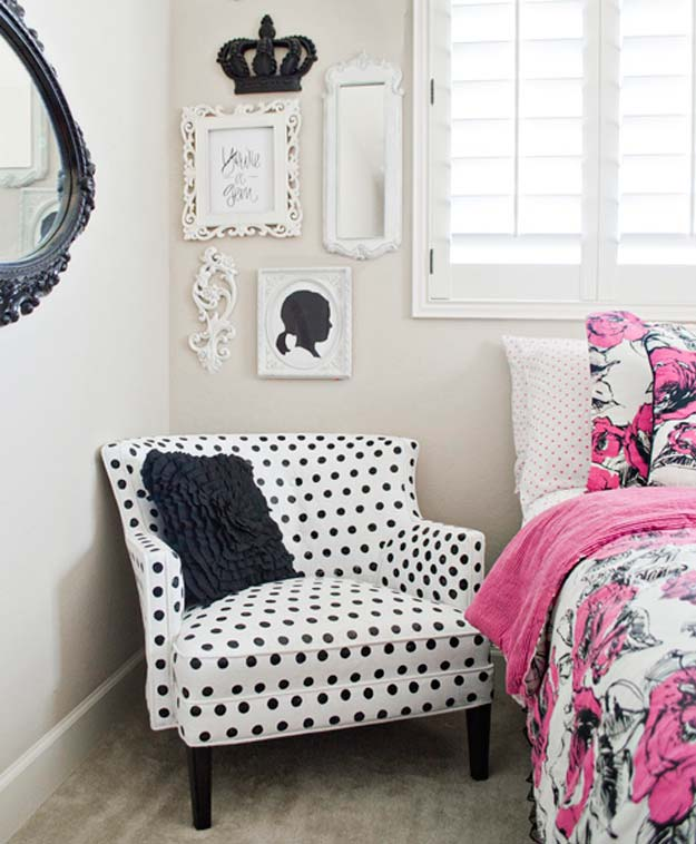 DIY Polka Dot Crafts and Projects - DIY Polka Dot Upholstery - Cool Clothes, Room and Home Decor, Wall Art, Mason Jars and Party Ideas, Canvas, Fabric and Paint Project Tutorials - Fun Craft Ideas for Teens, Kids and Adults Make Awesome DIY Gifts