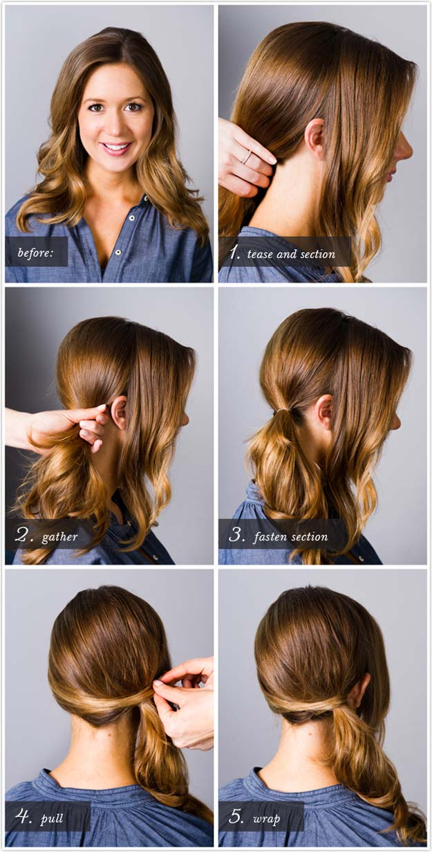 Best Hairstyles for Long Hair - Classic Side Ponytail - Step by Step Tutorials for Easy Curls, Updo, Half Up, Braids and Lazy Girl Looks. Prom Ideas, Special Occasion Hair and Braiding Instructions for Teens, Teenagers and Adults, Women and Girls http://diyprojectsforteens.com/best-hairstyles-long-hair