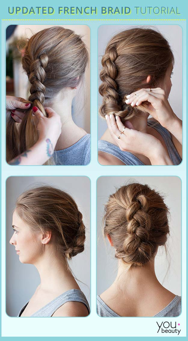 Best Hairstyles for Long Hair - French Braid - Step by Step Tutorials for Easy Curls, Updo, Half Up, Braids and Lazy Girl Looks. Prom Ideas, Special Occasion Hair and Braiding Instructions for Teens, Teenagers and Adults, Women and Girls http://diyprojectsforteens.com/best-hairstyles-long-hair