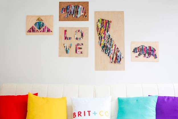 DIY Dorm Room Decor Ideas   Upcycle Old Magazines Into Wall Art   Cheap DIY  Dorm