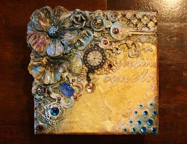 Cool Steampunk DIY Ideas - DIY Mixed Media Steampunk Style Keepsake Box - Easy Home Decor, Costume Ideas, Jewelry, Crafts, Furniture and Steampunk Fashion Tutorials - Clothes, Accessories and Best Step by Step Tutorials - Creative DIY Projects for Adults, Teens and Tweens