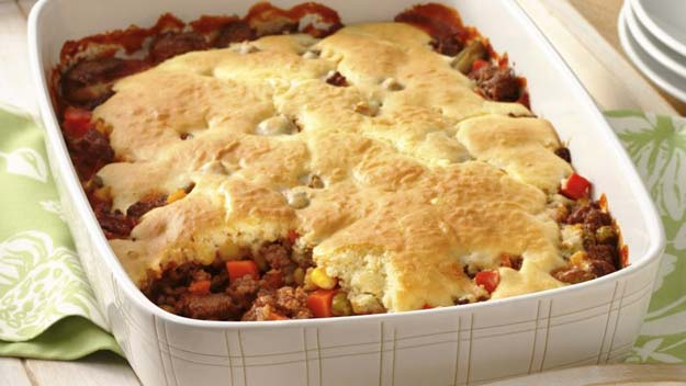 Cool and Easy Recipes For Teens to Make at Home - Easy Hamburger Pot Pie - Fun Snacks, Simple Breakfasts, Lunch Ideas, Dinner and Dessert Recipe Tutorials - Teenagers Love These Fun Foods that Are Quick, Healthy and Delicious Ideas for Meals http://diyprojectsforteens.com/diy-recipes-teens