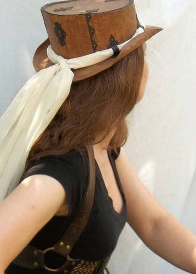 Cool Steampunk DIY Ideas - DIY Steampunked Cereal Hat - Easy Home Decor, Costume Ideas, Jewelry, Crafts, Furniture and Steampunk Fashion Tutorials - Clothes, Accessories and Best Step by Step Tutorials - Creative DIY Projects for Adults, Teens and Tweens