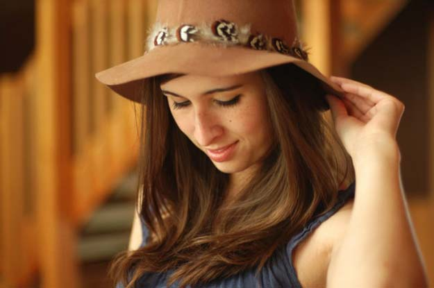 Cool Glue Gun Crafts and DIY Projects - DIY Simple Hat Makeover - Creative Ways to Use Your Glue Gun for Awesome Home Decor, DIY Gifts , Jewelry and Fashion - Fun Projects and Easy, Cheap DIY Ideas for Kids, Adults and Teens - Handmade Christmas Presents on A Budget http://diyprojectsforteens.com/fun-glue-gun-crafts/