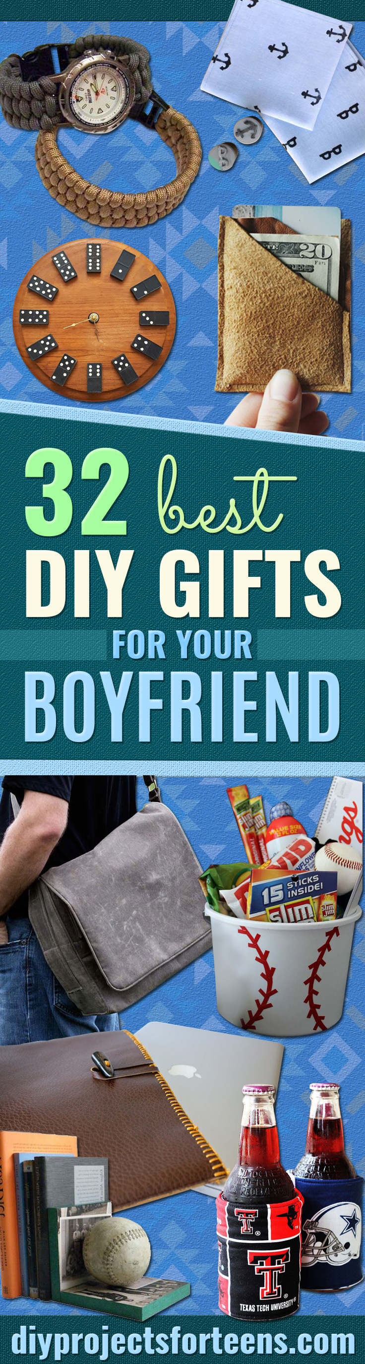Cool DIY Gifts to Make For Your Boyfriend - Easy, Cheap and Awesome Gift Ideas to Make for Guys - Fun Crafts and Presents to Give to Boyfriends - Men Love These Gift Card Holders, Mason Jar Kits, Thoughtful Handmade Christmas Gifts - DIY Projects for Teens