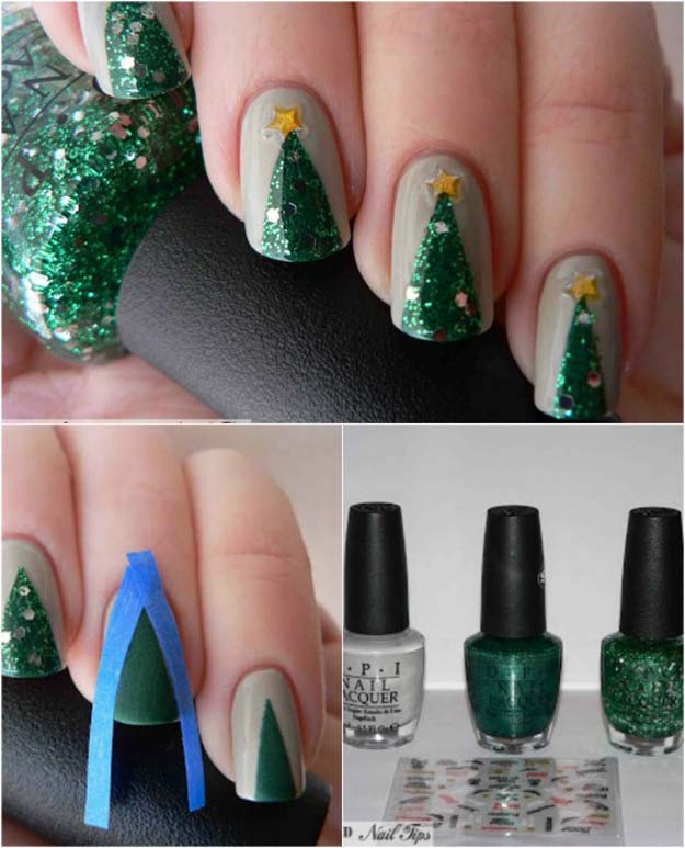 Easy Christmas Nail Art: 46 Creative Holiday Nail Art Patterns