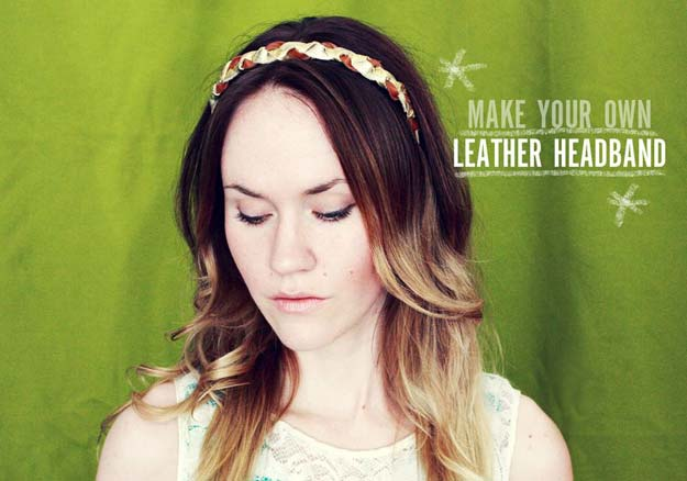 Cool Glue Gun Crafts and DIY Projects - DIY Leather Headband - Creative Ways to Use Your Glue Gun for Awesome Home Decor, DIY Gifts , Jewelry and Fashion - Fun Projects and Easy, Cheap DIY Ideas for Kids, Adults and Teens - Handmade Christmas Presents on A Budget http://diyprojectsforteens.com/fun-glue-gun-crafts/
