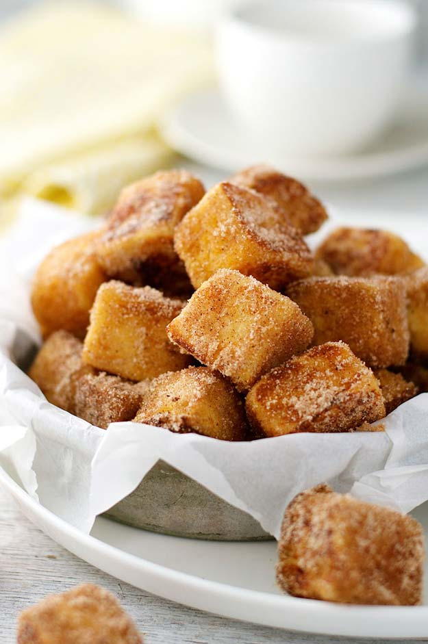 Cool and Easy Recipes For Teens to Make at Home - Cinnamon French Toast Bites - Fun Snacks, Simple Breakfasts, Lunch Ideas, Dinner and Dessert Recipe Tutorials - Teenagers Love These Fun Foods that Are Quick, Healthy and Delicious Ideas for Meals