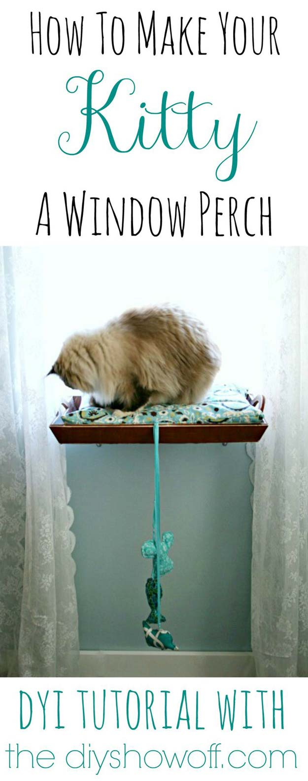 DIY Projects for Your Pet - Easy DIY Kitty Window Perch - Cat and Dog Beds, Treats, Collars and Easy Crafts to Make for Toys - Homemade Dog Biscuits, Food and Treats - Fun Ideas for Teen, Tweens and Adults to Make for Pets