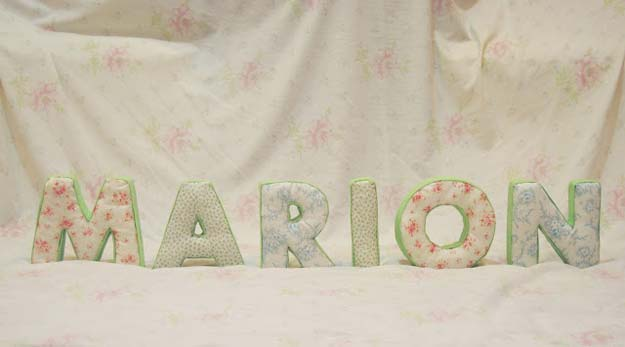 Cool Glue Gun Crafts and DIY Projects - DIY No Sew Fabric Letters - Creative Ways to Use Your Glue Gun for Awesome Home Decor, DIY Gifts , Jewelry and Fashion - Fun Projects and Easy, Cheap DIY Ideas for Kids, Adults and Teens - Handmade Christmas Presents on A Budget