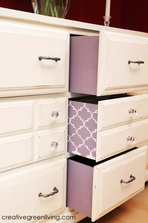 DIY Purple Room Decor - DIY Sideboard - Best Bedroom Ideas and Projects in Purple - Cool Accessories, Crafts, Wall Art, Lamps, Rugs, Pillows for Adults, Teen and Girls Room