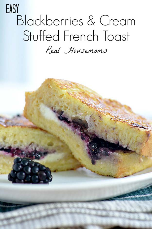 Cool and Easy Recipes For Teens to Make at Home - Easy Blackberries and Cream Stuffed French Toast - Fun Snacks, Simple Breakfasts, Lunch Ideas, Dinner and Dessert Recipe Tutorials - Teenagers Love These Fun Foods that Are Quick, Healthy and Delicious Ideas for Meals