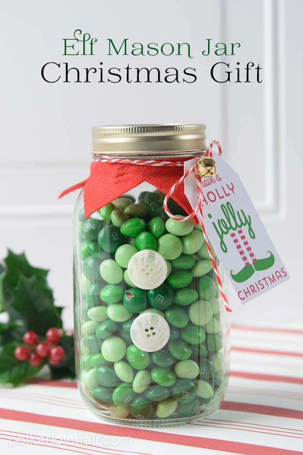 ute DIY Mason Jar Gift Ideas for Teens - DIY Elf Christmas Mason - Best Christmas Presents, Birthday Gifts and Cool Room Decor Ideas for Girls and Boy Teenagers - Fun Crafts and DIY Projects for Snow Globes, Dollar Store Crafts and Valentines for Kids
