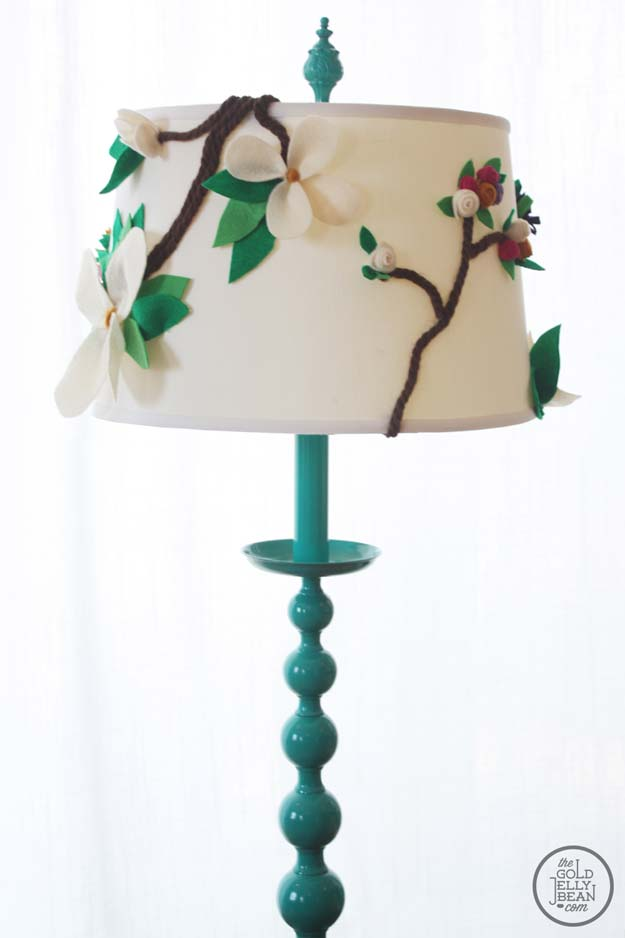 Cool Glue Gun Crafts and DIY Projects - DIY Anthropologie Inspired Floral Lamp Shade - Creative Ways to Use Your Glue Gun for Awesome Home Decor, DIY Gifts , Jewelry and Fashion - Fun Projects and Easy, Cheap DIY Ideas for Kids, Adults and Teens - Handmade Christmas Presents on A Budget